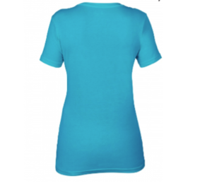 V-ringad T-shirt dam